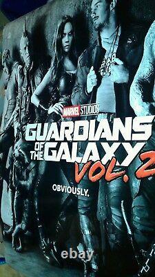 Avengers Endgame 27x40 Affiche De Théâtre Ds Originale Guardians Galaxy Gunn Marvel+3