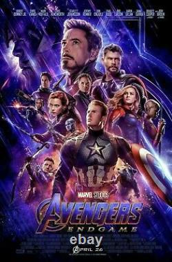 Avengers Endgame 27x40 Original Final Nous D/s Movie Poster Une Feuille