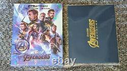 Avengers Endgame 4k Uhd Blu-ray Collection Weet Exclusive Steelbook Full Slip A2