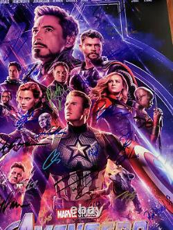 Avengers Endgame Affiche De Cinéma Cast Signed Première Autographe Chris Evans Ironman