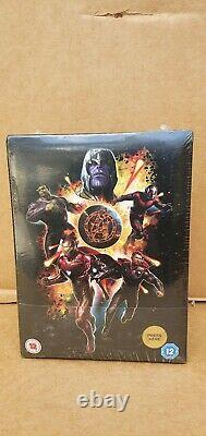Avengers Endgame Blu Ray & 3d Blu Ray Steelbook (zavvi Edition Collector)