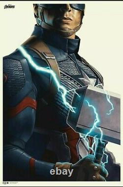 Avengers Endgame Captain America Poster Imprimer Phantom City Creative Mondo X/300