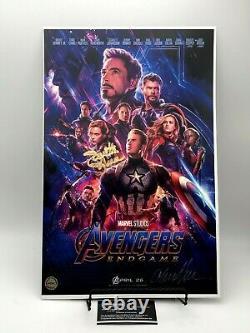 Avengers Endgame Cast Autographié 11x17 Photographie