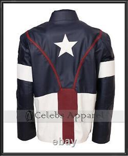 Avengers Endgame Chris Evans Captain America Cosplay Superhero Veste En Cuir