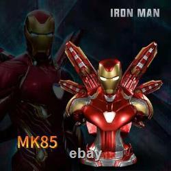 Avengers Endgame Iron Man Mk85 Bust Figurine Led Lumière Résine Modèle Cadeau De Jouet 35cm