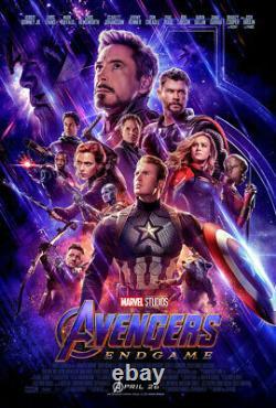 Avengers Endgame Movie Poster 2 Sided Original Final 27x40 Robert Downey Jr