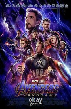 Avengers Endgame New Original D/s Final Affiche De Cinéma 27x40