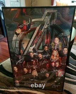 Avengers Endgame Personnages Signatures Poster 24×36 Pas De Cadre D'affiche Inclus