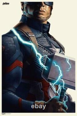 Avengers Endgame Phantom City Creative Signé Numéroté Ap Le40 Affiche D'impression Oos