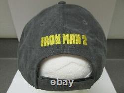 Avengers Endgame Promo + Marvel Iron Man 2 Nouveau Vintage Film Crew Hat Black Widow