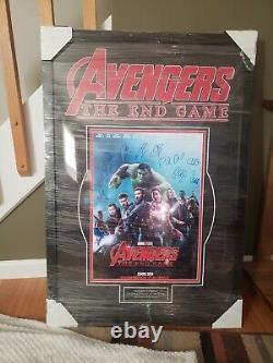 Avengers Endgame Signé Affiche. 11 Signatures