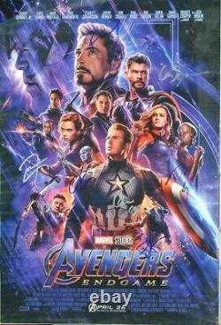 Avengers Endgame Signed Poster X7 Robert Downey Jr, Danai Gurrira++ Avec Coa