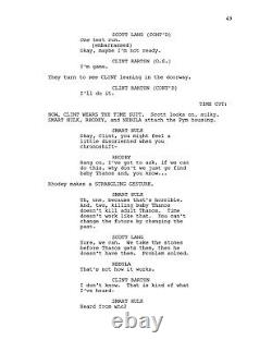 Avengers Endgame Très Rare Scénario De Film