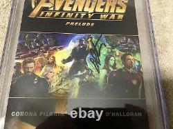 Avengers Infinity War 1 Cgc Ss 9.8 Jim Starlin Auto Thanos Endgame 2019 Film