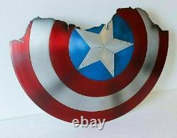 Bouclier Brisé Du Capitaine Amérique Metal Prop Avengers Endgame Bouclier Replique Cadeau