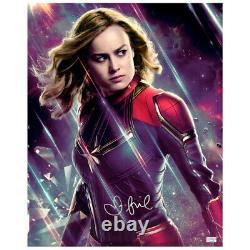Brie Larson Autographié Avengers Endgame Capitaine Marvel 16x20 Photo
