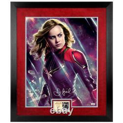 Brie Larson Autographié Avengers Endgame Captain Marvel 16x20 Photo Encadrée