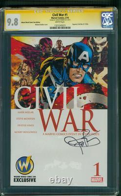 CIVIL War 1 Hawkeye Cgc Ss 9.8 Jeremy Renner Avengers Endgame Movie