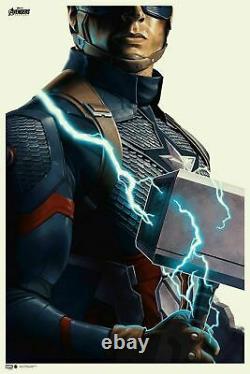 Capitaine America Avengers Endgame Poster Imprimer Phantom City Creative Mondo 24x36