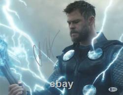 Chris Hemsworth A Signé Thor Avengers Infinity War Endgame Autographe Beckett E
