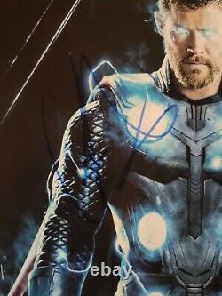 Chris Hemsworth Avengers Endgame Autographié Signé 8x10 Photo Psa/adn Coa