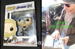 Chris Hemsworth Signé Thor Funko Pop Avengers Endgame Poster Photo Sexy