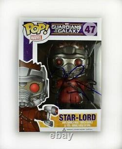 Chris Pratt Guardians Galaxy Endgame Avengers Auto Signé Funko Pop Psa/adn Coa
