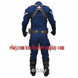 Costume Captain America Stealth Strike Combinaison Avec Accessoires Tissu Texturé