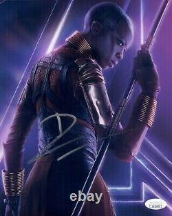 Danai Gurira Signé Avengers End Game 8x10 Marvel En Personne Autographe Jsa Coa