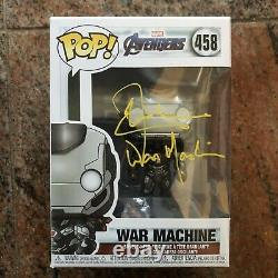 Don Cheadle A Signé Funko Pop Avengers Endgame War Machine Beckett Bas Coa