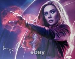 Elizabeth Olsen A Autographié Scarlet Witch 11x14 Jsa