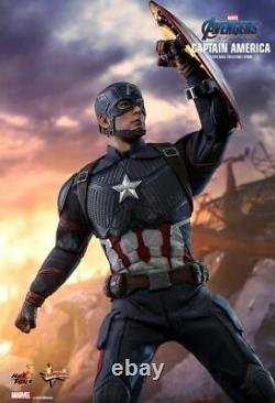 Hot Toys 1/6 Mms536 Avengers Endgame Captain America Statue Movie Model Nouveau
