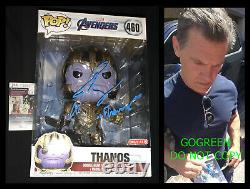 Josh Brolin A Signé Thanos Funko Pop Avengers End Game Poster Target 460 Géant