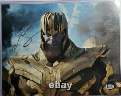 Josh Brolin Authentic Signé 11x14 Photo Beckett Bas Thanos Avengers Endgame