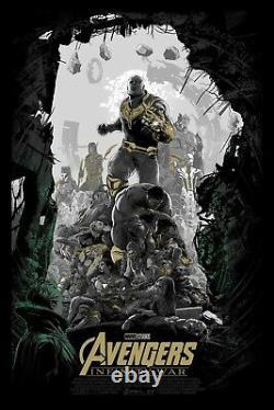 Juan Ramos Avengers Infinity War Endgame Écran Imprimer Affiche Commission Privée