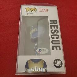 Lexi Rabe A Signé Funko Pop Rescue #480 Morgan Stark Avec Beckett Coa & Inscription