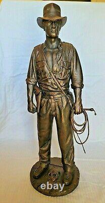 Lucasfilm Faux Bronze Indiana Jones Statue Figure Buste No#ap Disney Not Sideshow