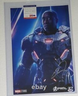 Machine De Guerre Don Cheadle Signé 12 X 18 Photo Psa Dna Avengers Endgame