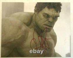 Mark Ruffalo Hulk Avengers Autographié À La Main Signé 8x10 Photo Avec Hologramme Coa