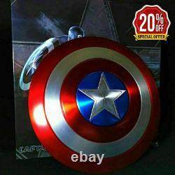 Marvel Red Captain America Shield Metal Prop Replica Cosplay Avengers Endgame