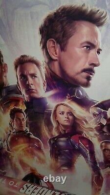 Rare Imax Marvel Avengers Endgame 27x40 Ds Affiche De Théâtre Originale Thanos Loki+3