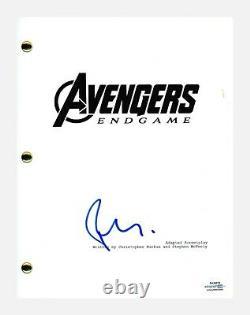 Robert Downey Jr Signé Autographed Avengers Endgame Movie Script Acoa Coa