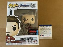 Robert Downey Jr. Signé Iron Man Funko Avengers Endgame Gauntlet Psa Coa Proof