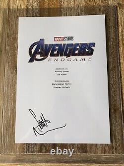 Scarlett Johansson Black Widow Avengers Endgame Signé Script Cover