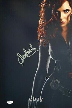 Scarlett Johansson Signé 12x18 Photo Jsa Avengers End Game Black Widow