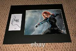 Scarlett Johansson Signé 3x5 Jsa 11x14 8x10 Photo Autographe Avengers Jeu De Fin