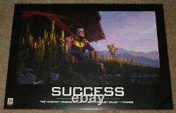 Sdcc 2018 Avengers Exclusif End Game Thanos Success Poster 26 X 18,5
