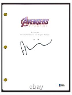Taika Waititi A Signé Autographied Avengers Endgame Film Scénario Beckett Bas Coa