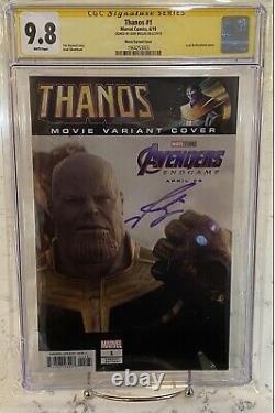 Thanos #1 Cgc 9.8 Ss Movie Variant Auto Josh Brolin Avengers Endgame Comic Book