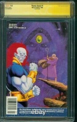 Thanos Quest 1 Cgc 9.8 Ss Stan Lee Auto Avengers Endgame Movie 2ème Impression 1990